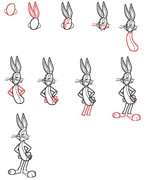 how to draw bugs bunny step by step easy how to draw bugs bunny face step by step www imgkid com