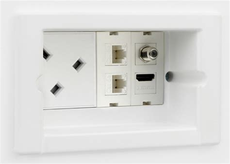 recessed outlet for ac adapter habitech offers sync box universal fully recessed power