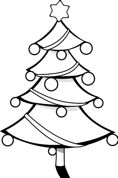 clip art christmas tree black and white clipart panda
