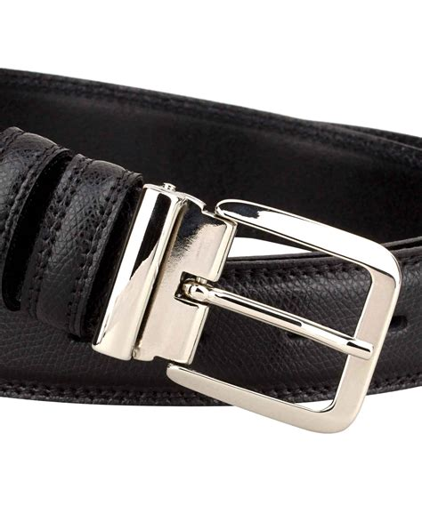 buy saffiano leather belt with italian buckle