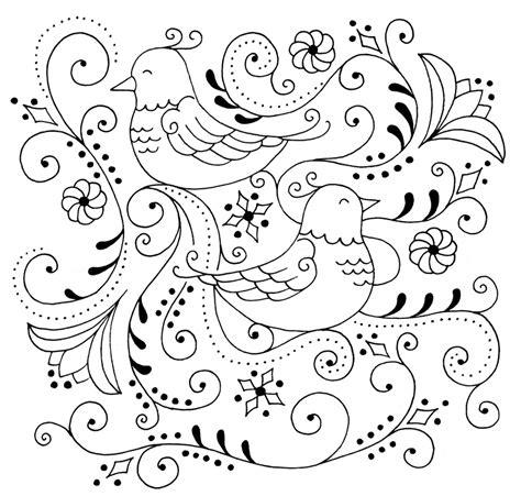 pattern drawing bird embroidery stuff spot colors