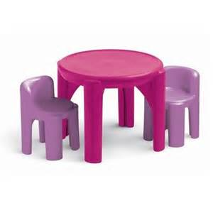 Daughter s bedroom little tikes plastic table and chair set pink