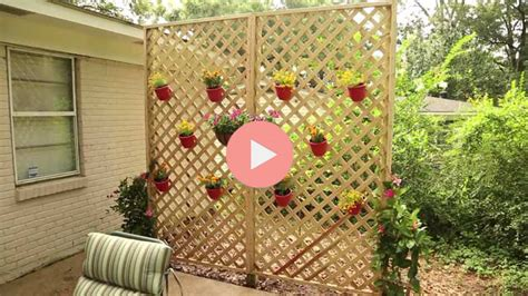 build  wood lattice privacy wall checking