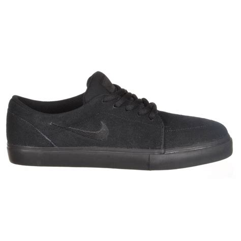 black nike shoes nike sb nike satire skate shoes black black nike sb