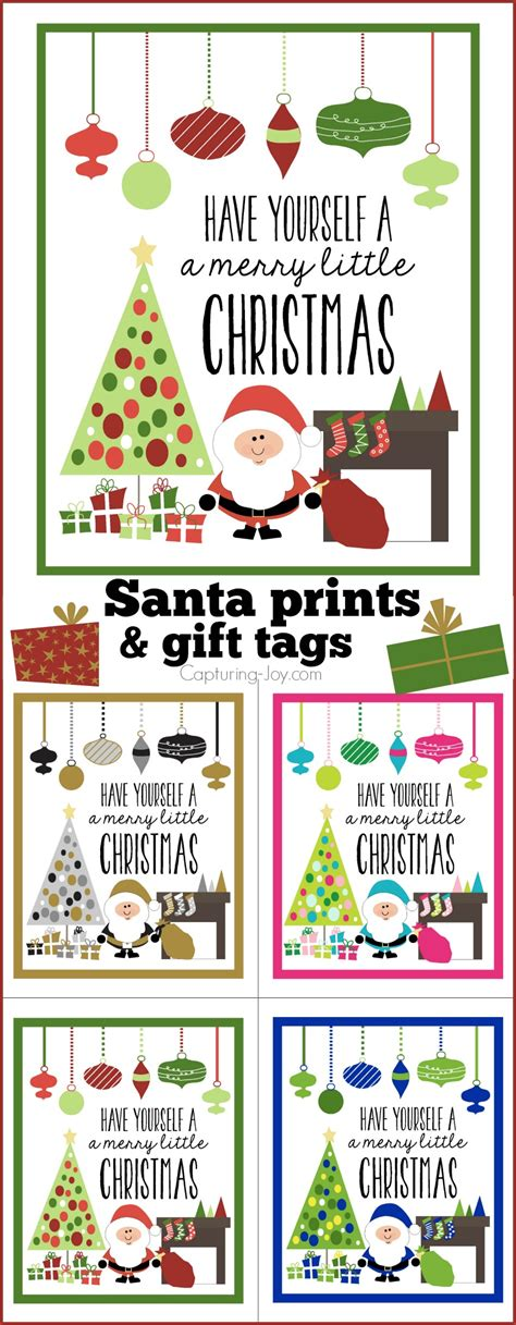 free printable gift tags signed by santa santa claus prints and gift tags capturing joy with