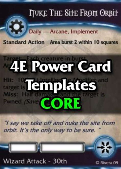 drive thru rpg card template tintagel s 4e power card template creative