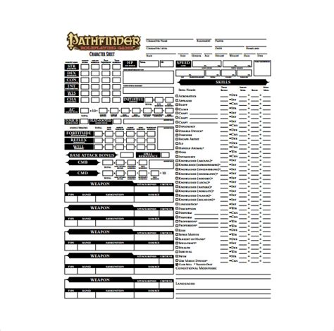 Character Template Sheet by 9 Sle Character Sheet Templates Free Sle Exle