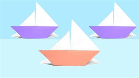 sailing boat origami origami sailboat that floats instructions tutorial