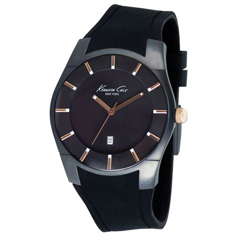 kenneth cole kc1621 mens black silicon buy kenneth