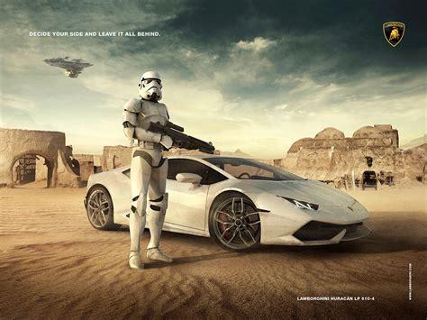 Lamborghini Advertisement Lamborghini Advertising Stormtrooper On Behance