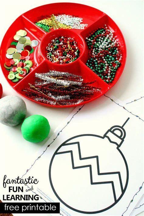 christmas ornament play dough mats fun christmas