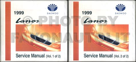 old cars and repair manuals free 1999 daewoo lanos navigation system 1999 daewoo lanos repair shop manual original 2 volume set