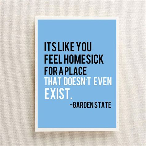 Garden State Quotes Homesick Garden State Quote 8x10 Wall Print By