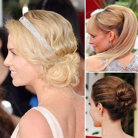 hair dos at the golden globes golden globes hair from the back popsugar beauty