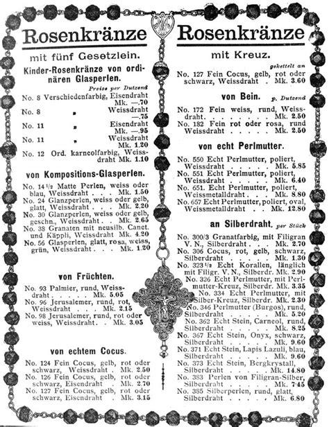bis wann darf fajr beten ein alter rosenkranzkatalog benziger um 1908