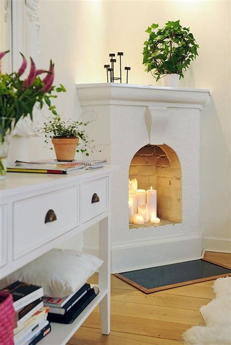 faux corner fireplace for the home