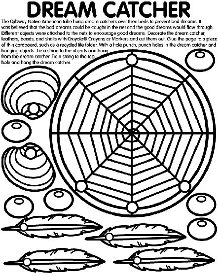 dreamcatcher template catcher coloring page crayola