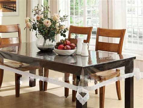 buy expressions transparent dining table cover