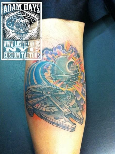millennium falcon tattoo millennium falcon by adam hays
