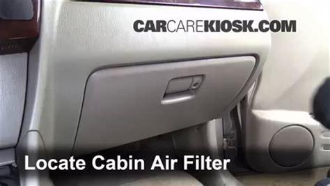 automotive air conditioning repair 2006 suzuki xl 7 auto manual cabin filter replacement suzuki xl 7 2002 2006 2003 suzuki xl 7 touring 2 7l v6