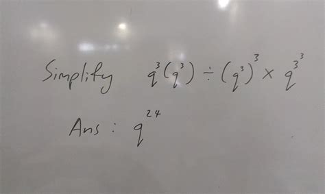 Topical Maths Normal Technical Sec 4 a indices question for you to try answer given