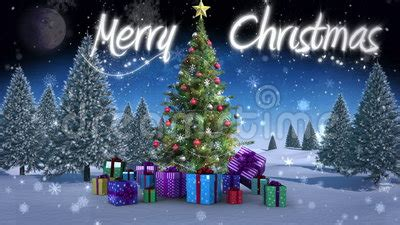 merry christmas message appearing  snowy landscape stock video video  digitally montage