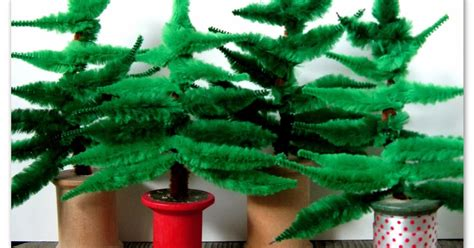 happy as a lark chenille stem christmas tree diy