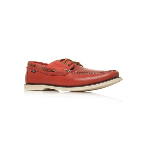 polo ralph bienne boat shoes in brown for