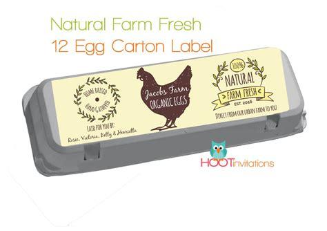 egg labels template custom egg label vintage style fresh eggs label