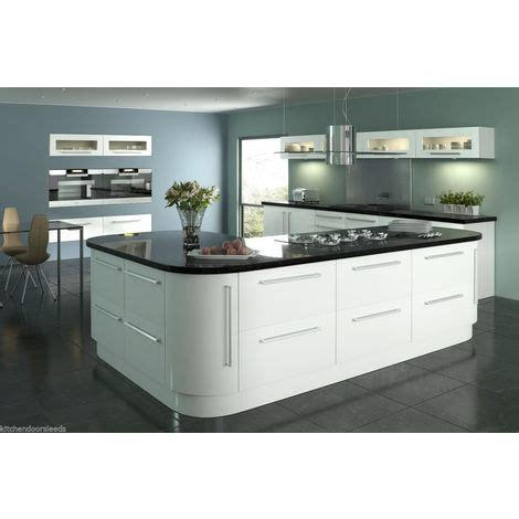 White Gloss Kitchen Door Fronts Lumi White Gloss Vinyl Wrapped Replacement Kitchen Cabinet Unit Doors Drawer Fronts Tmlwcs