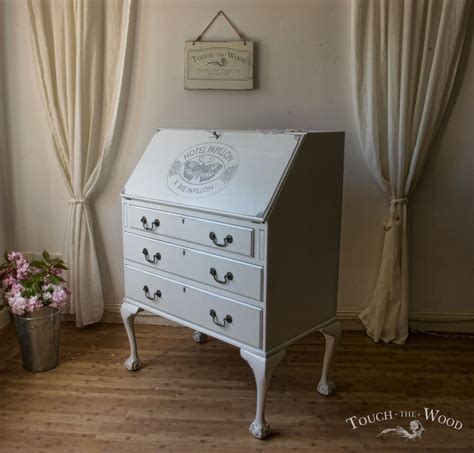 shabby chic computer desk shabby chic writing desk bureau no 15 touch the wood