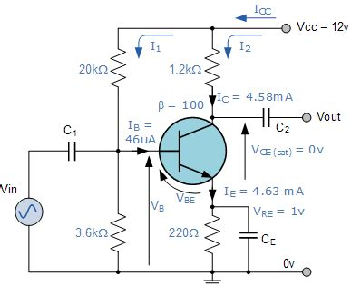 use capacitor in transistor lifier circuit common emitter lifier electronics