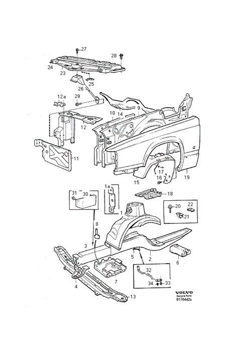 Volvo S70 Exhaust System Diagram Oem Volvo Part 985866 Flange Lock Nut
