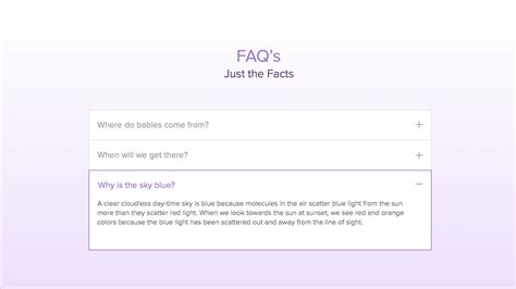 faq section faq create a dedicated faq section or page