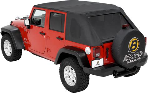 jeep soft top 4 door bestop 56805 35 trektop for 07 18 jeep wrangler unlimited