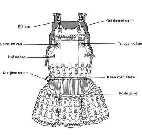armor diagram 1011 best samurai armour images on samurai