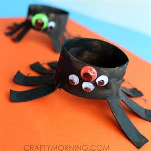 Valentine Paper Crafts Kids - two toilet paper roll spider crafts for kids crafty morning