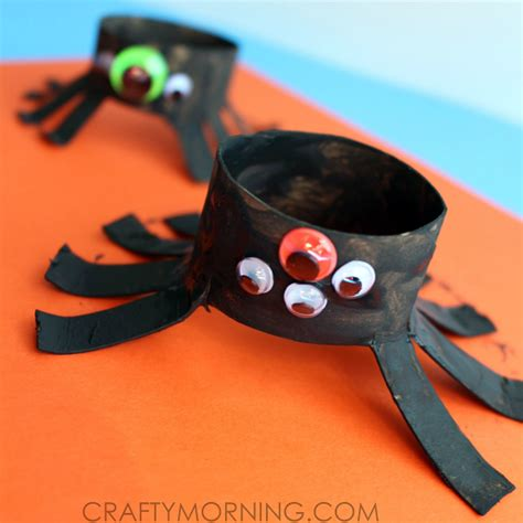 kid crafts with toilet paper rolls two toilet paper roll spider crafts for crafty morning
