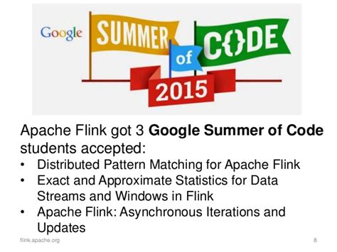 approximate pattern matching python apache flink first half of 2015 community update