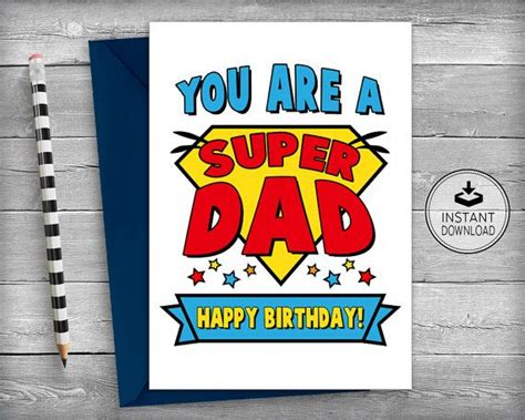 printable greeting cards for dads birthday dad superhero birthday card dad birthday cards father