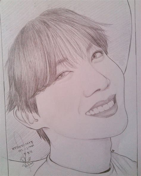 Jhope Drawing Easy by 꿀벌 On Quot Those This Bright Smile He S Shining