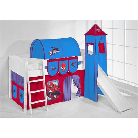 spiderman bunk bed ida spiderman children bed in white with tower and curtains