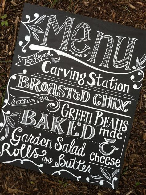 Handwritten Custom Chalkboard Sign By Maryandjack On Etsy