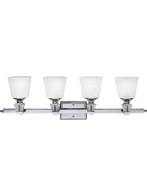 chrome 4 light bathroom fixture deluxe 4 light bath fixture in polished chrome