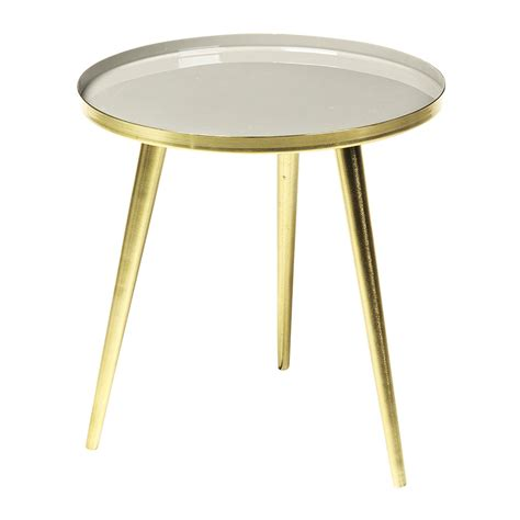 brass side table buy broste copenhagen jelva side table brass taupe