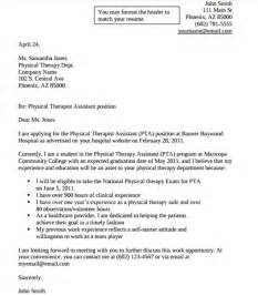 Sample Physical Therapist Cover Letter   9  Documents in
