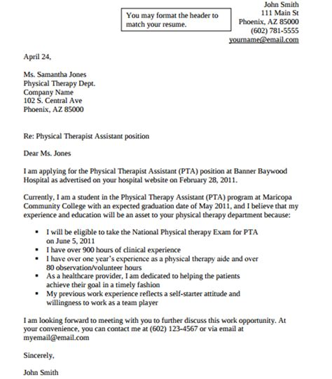 physical therapist cover letter 9 documents in pdf word