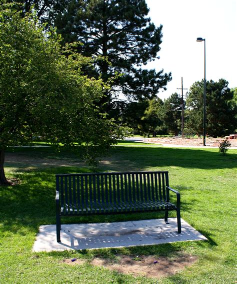 a bench in the park park bench in the shade picture free photograph photos