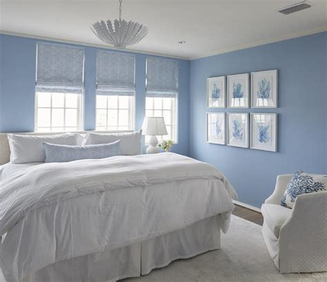 bedroom blue blue bedroom with blue coral gallery wall cottage bedroom