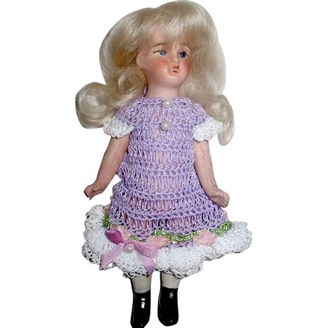 bisque doll wigs marked all bisque 5 doll mohair wig excellent